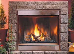 H Series Outdoor Ventless - Traditional, Logs