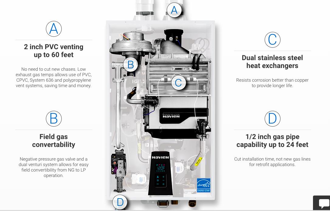 Buy Npe 150s Condensing Tankless Water Heater Navien