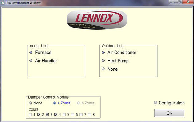lennox application thermostat