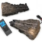 Remote Control Kit, F45 Remote, Receiver, Batteries, Remote Cradle and Two Ceramic Fibre Logs