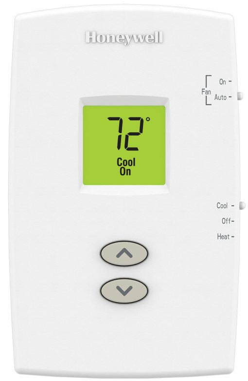PRO 1000 Single Stage Heat/Cool Vertical Non-Programmable Thermo