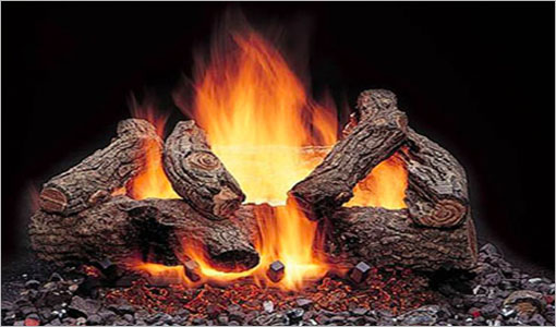 Majestic Log-Sets Gas Fireplaces