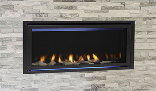 Majestic Linear-Contemporary Gas Fireplace