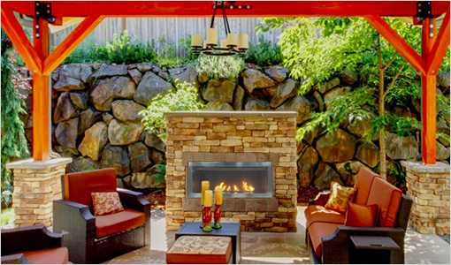 Savannah Outdoor Gas Fireplace