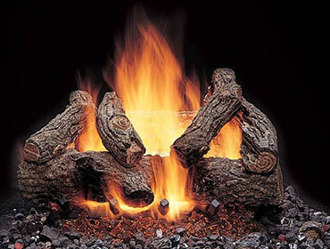 Majestic American Oak Gas Log Sets-1