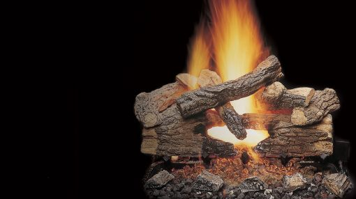 Majestic Massive Oak See-Through Gas Log Sets-1