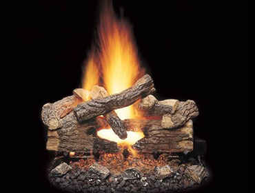 Majestic Massive Oak See-Through Gas Log Sets