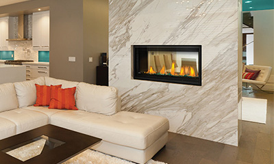 Napoleon See-Thru Electric Fireplace