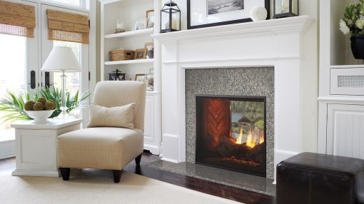 Majestic Fortress See-Through Gas Fireplace-1