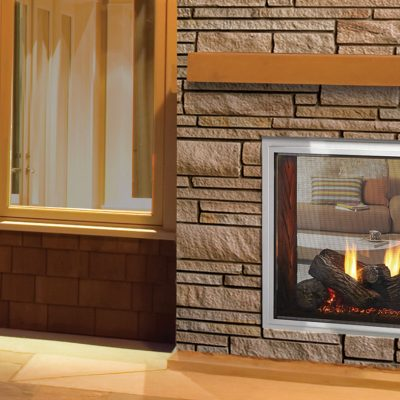 Majestic Fortress See-Through Gas Fireplace