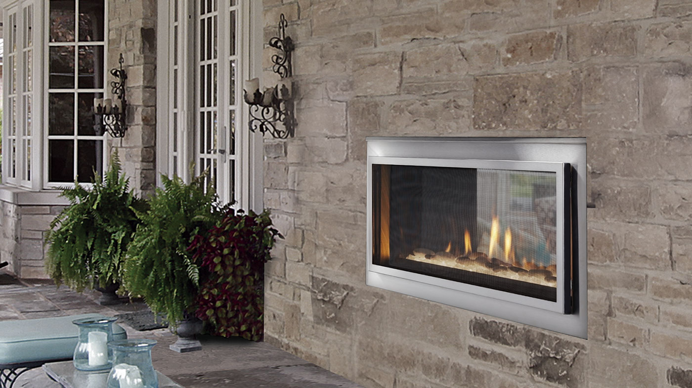 Buy Majestic Mezzanine See Through Gas Fireplace Toronto