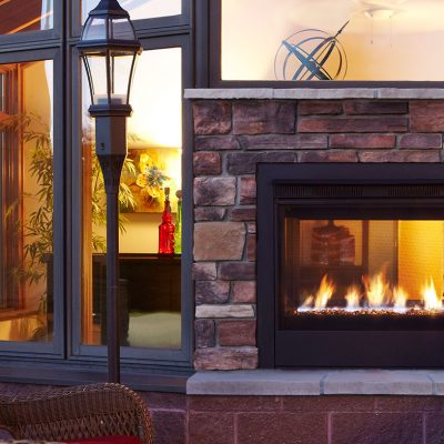 Majestic Twilight Modern Gas Fireplace