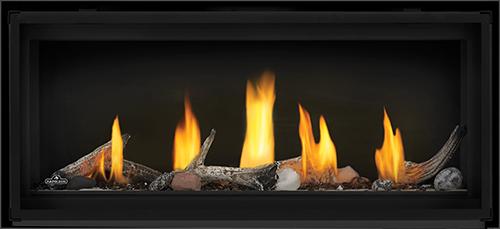 Napoleon Luxuria™ Series Direct Vent Gas Fireplace-Luxuria-LVX38-Prod-Straight-ShoreFire-BeachFire-GlassBarrier-1