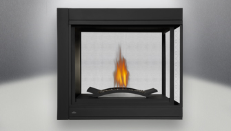 Napoleon Ascent Multi-View Peninsula Direct Vent Gas Fireplace