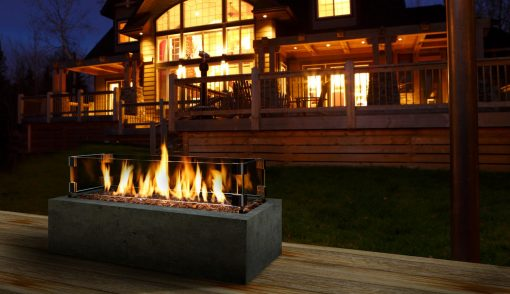 Kingsman Linear Burner Outdoor Gas Fireplaces-1