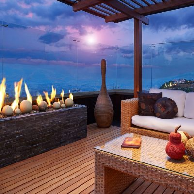 Kingsman Linear Burner Outdoor Gas Fireplaces