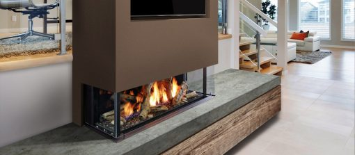 Marquis Enclave Direct Vent Bay Peninsula Gas Fireplace-1