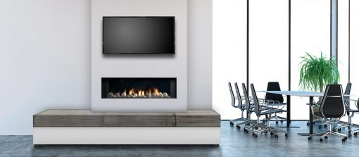 Marquis Enclave Direct Vent Bay Peninsula Gas Fireplace-3