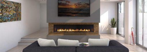 Regency City Series New York View 72 Power Vent Gas Fireplace-2