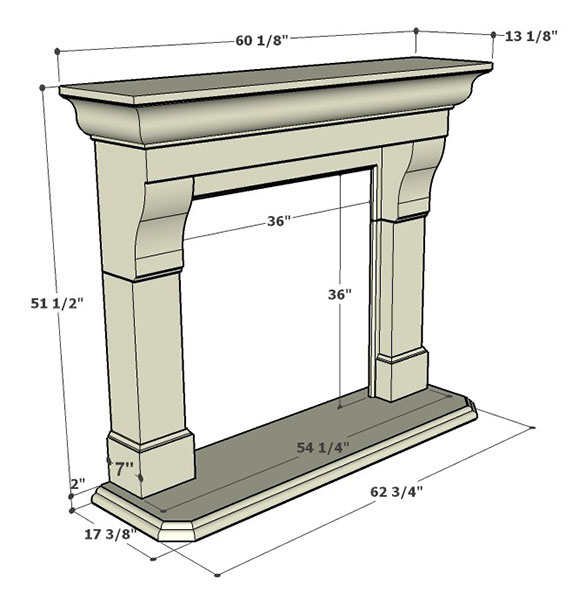 Specification Legacy Stone Corvallis Mantels