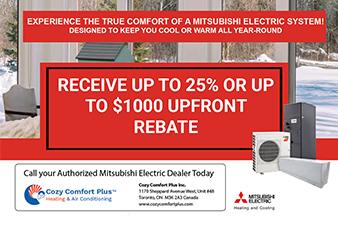Mitsubishi Electric's Heating & Cooling Rebate