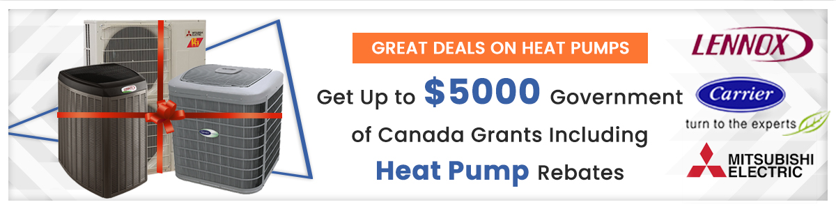 Government Rebate program on Heat pumps banner june 18